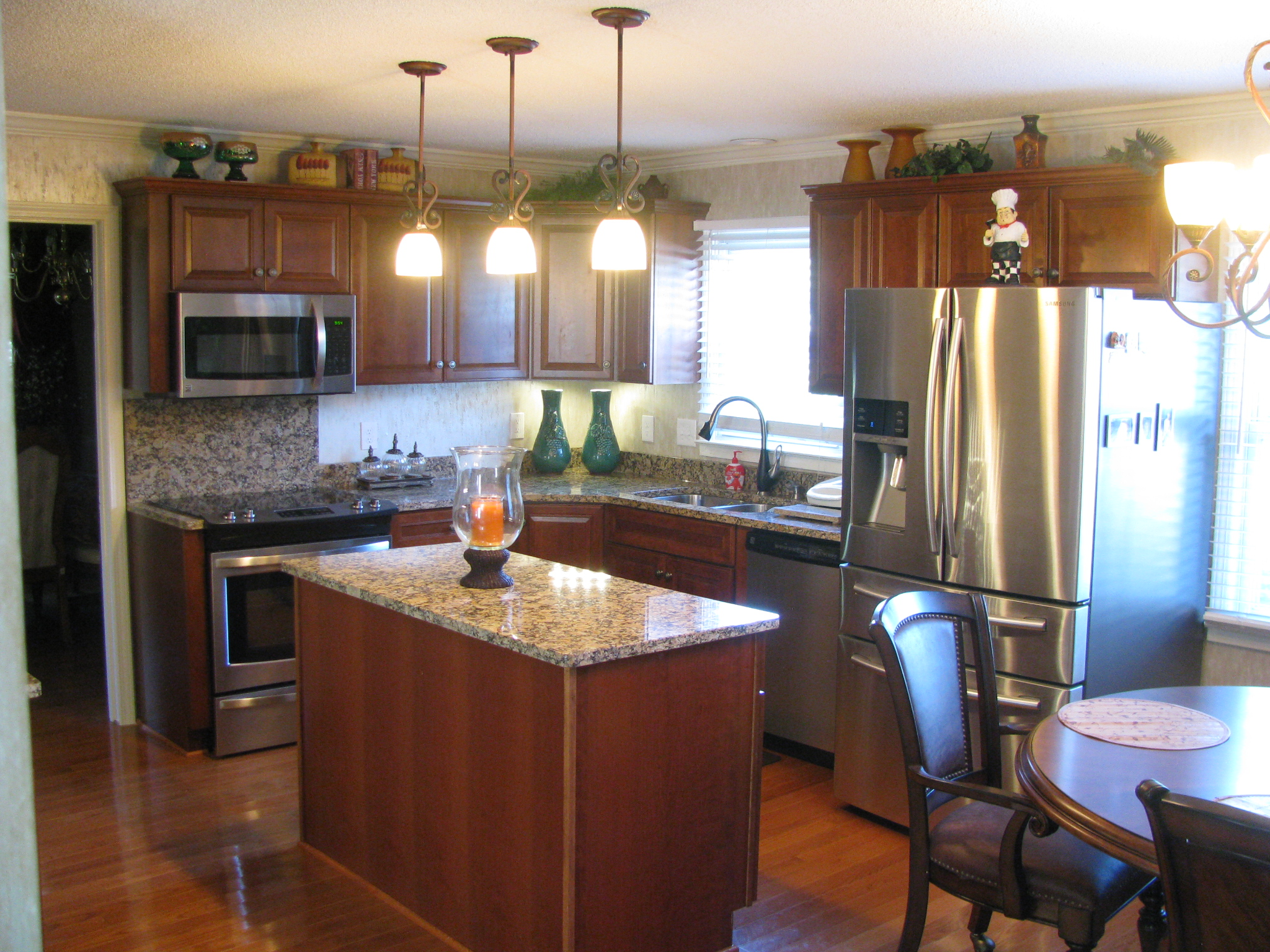 this greenville kitchen remodel changed what was a u shaped kitchen that did not work for this family to one with a center island and better traffic flow - U Shaped Kitchen Remodel