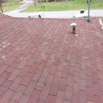 Storm damage repair - roof inspected and marked for hail damage